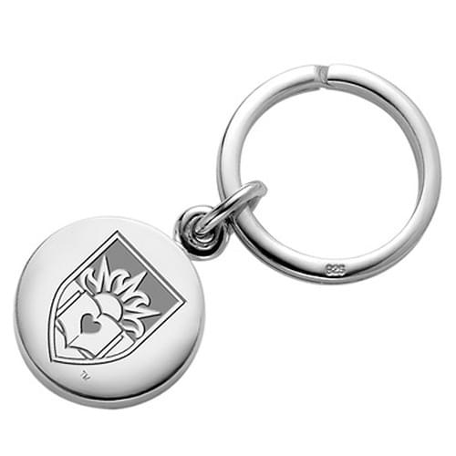 Lehigh Sterling Silver Insignia Key Ring
