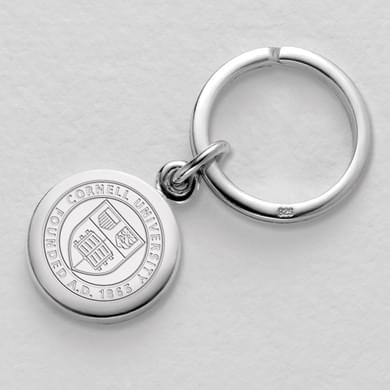 Cornell Sterling Silver Insignia Key Ring