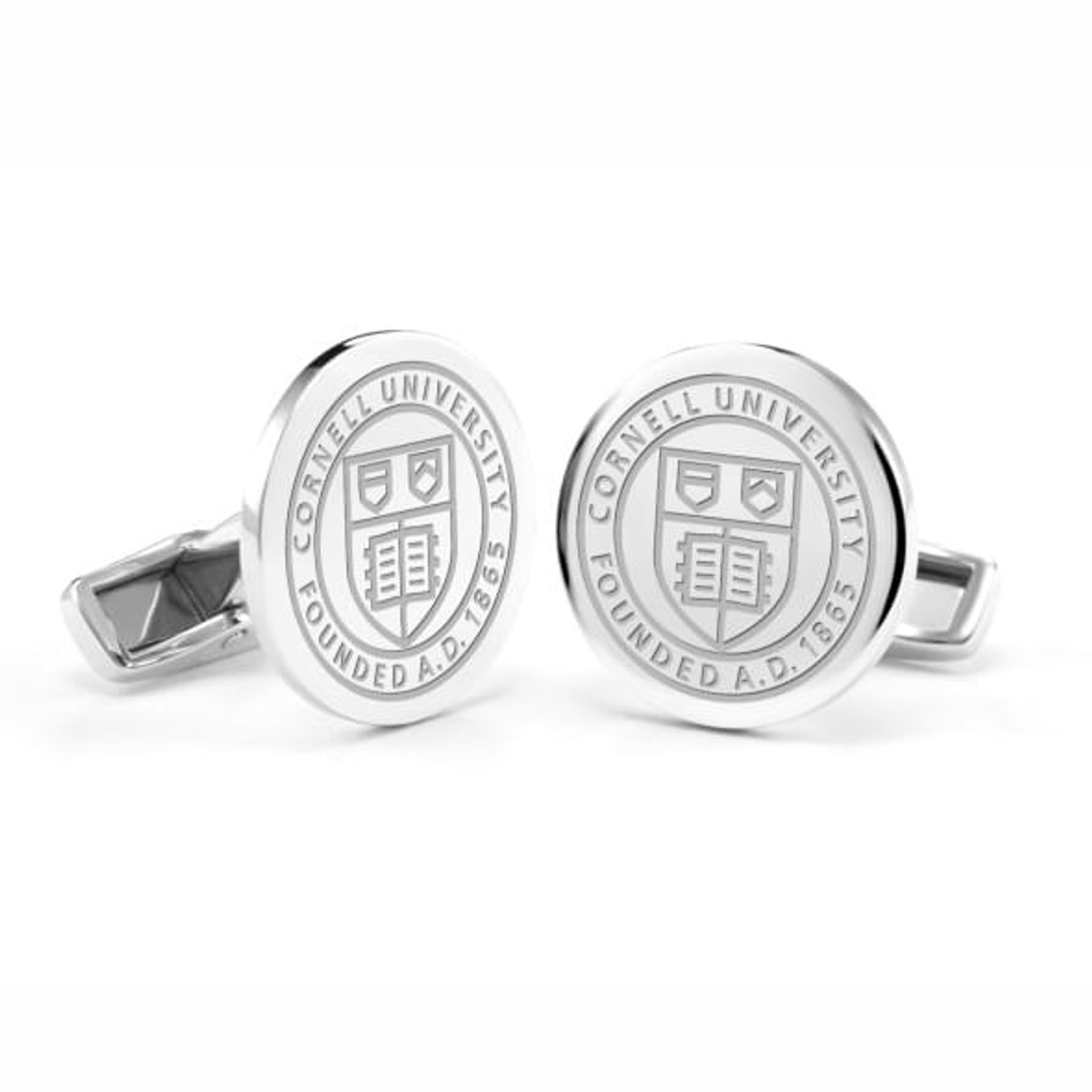 cornell university cufflinks in sterling silver