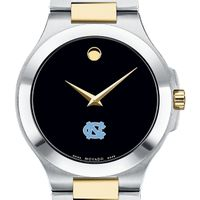 UNC Men's Movado Collection Two-Tone Watch with Black Dial