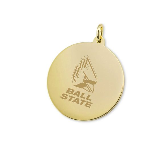 Ball State 18K Gold Charm - Image 1