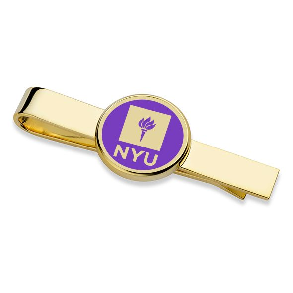 New York University Enamel Tie Clip