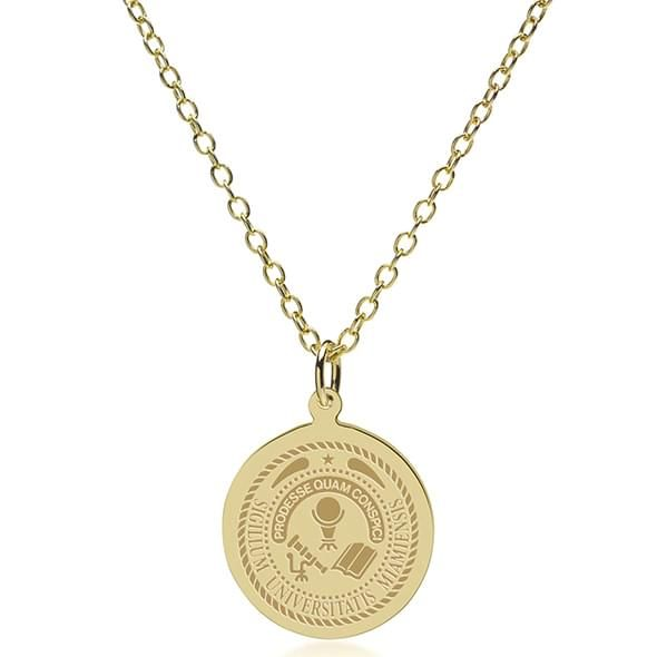 Miami University 18K Gold Pendant & Chain - Image 2