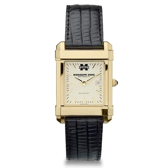 Mississippi State Men's Gold Quad with Leather Strap - Image 2