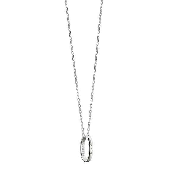 "Clemson Monica Rich Kosann ""Carpe Diem"" Poesy Ring Necklace in Silver - Image 2"