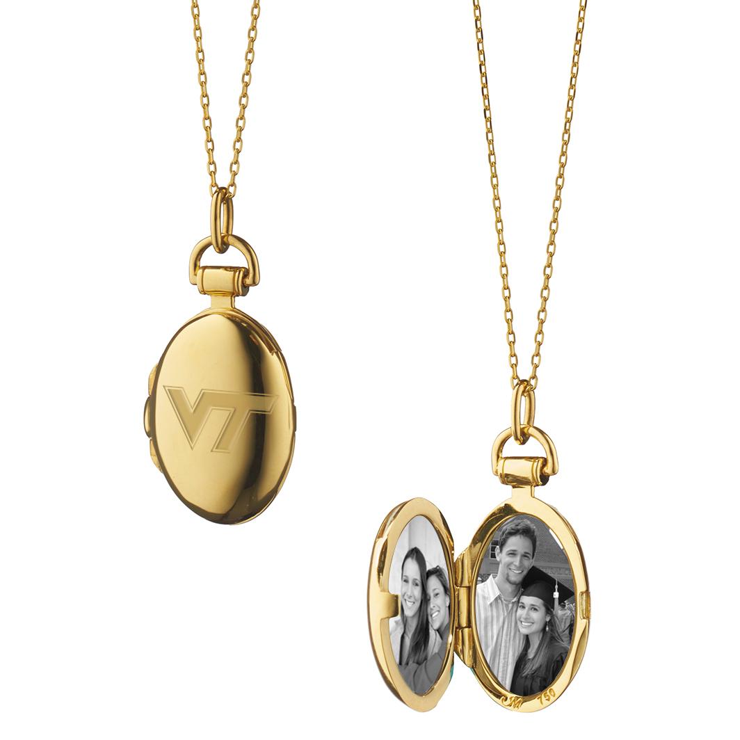 Virginia Tech Monica Rich Kosann Petite Locket in Gold