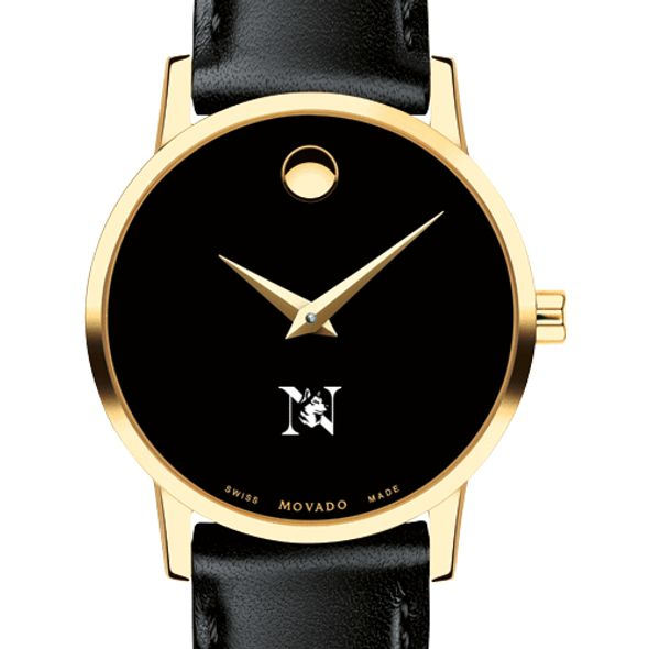 Northeastern Women's Movado Gold Museum Classic Leather