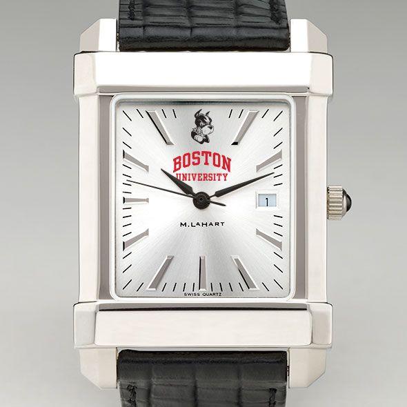 Boston University Men's Collegiate Watch with Leather Strap