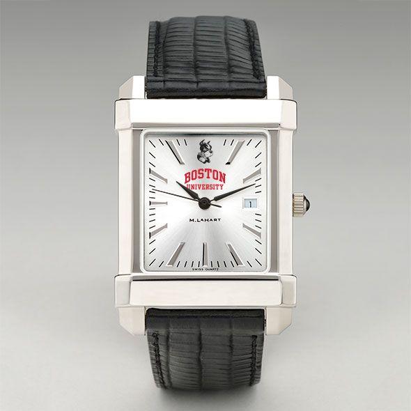 Boston University Men's Collegiate Watch with Leather Strap - Image 2