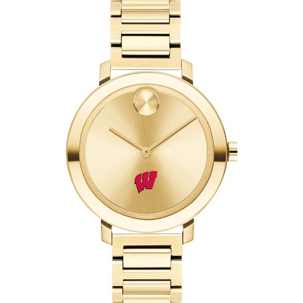 University of Wisconsin Women's Movado Gold Bold 34 - Image 2