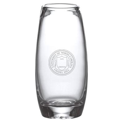 UNC Glass Addison Vase by Simon Pearce