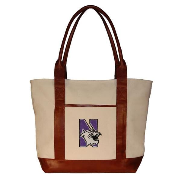 Northwestern Needlepoint Tote