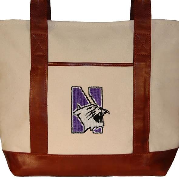 Northwestern Needlepoint Tote - Image 2