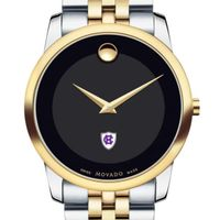 Holy Cross Men's Movado Two-Tone Museum Classic Bracelet