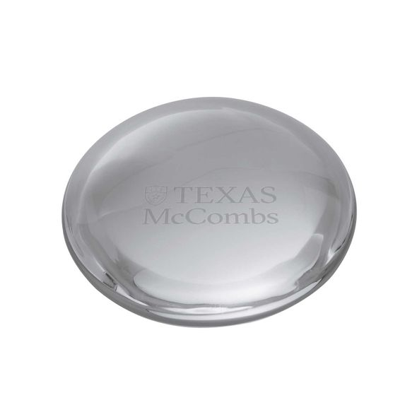 Texas McCombs Glass Dome Paperweight by Simon Pearce - Image 1