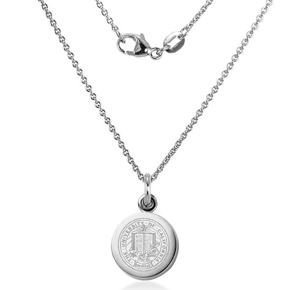 University of California, Irvine Sterling Silver Necklace with Silver Charm - Image 2