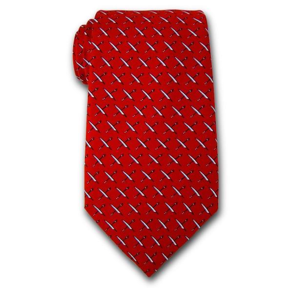 USNI Vineyard Vines Tie in Red - Image 2