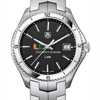 Miami TAG Heuer Men's Link Watch with Black Dial