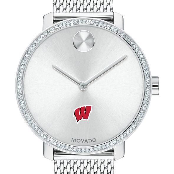Wisconsin Women's Movado Bold with Crystal Bezel & Mesh Bracelet