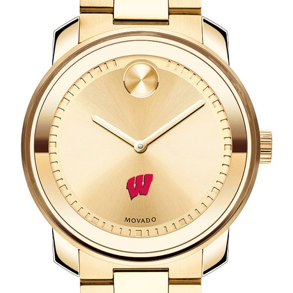 University of Wisconsin Men's Movado Gold Bold