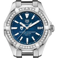 Yale SOM Women's TAG Heuer 35mm Steel Aquaracer with Blue Dial
