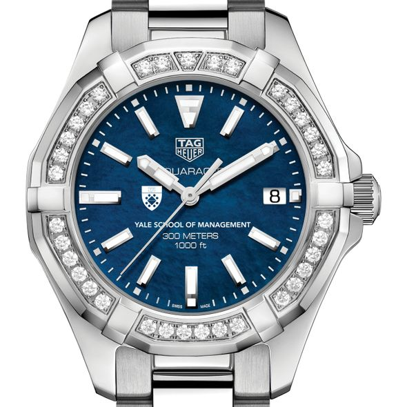 Yale SOM Women's TAG Heuer 35mm Steel Aquaracer with Blue Dial - Image 1