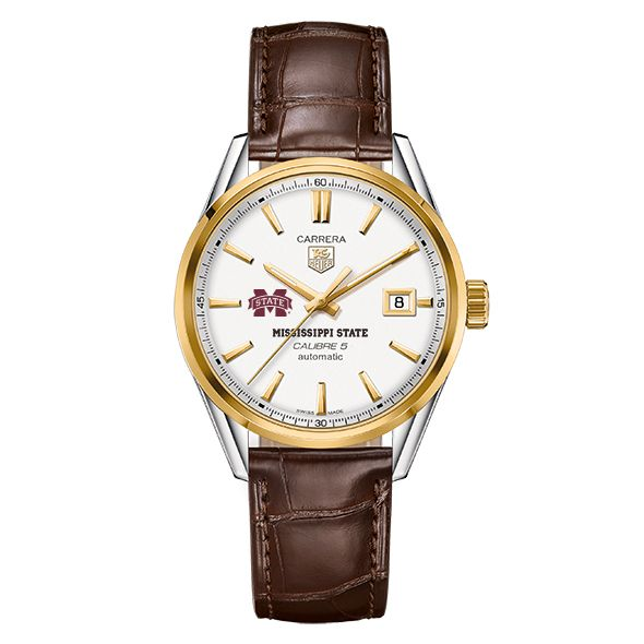 Mississippi State Men's TAG Heuer Two-Tone Carrera with Strap - Image 2
