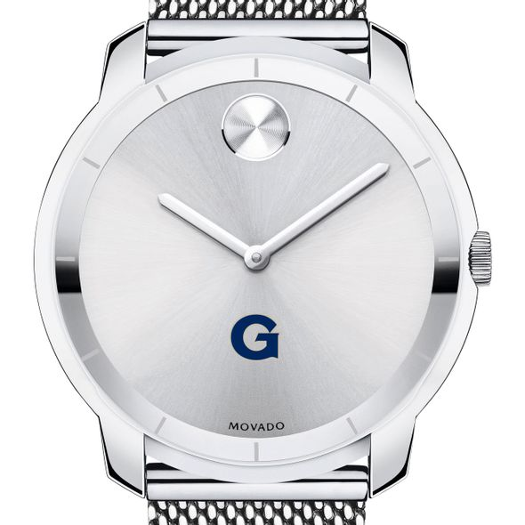 Georgetown University Men's Movado Stainless Bold 44 - Image 1