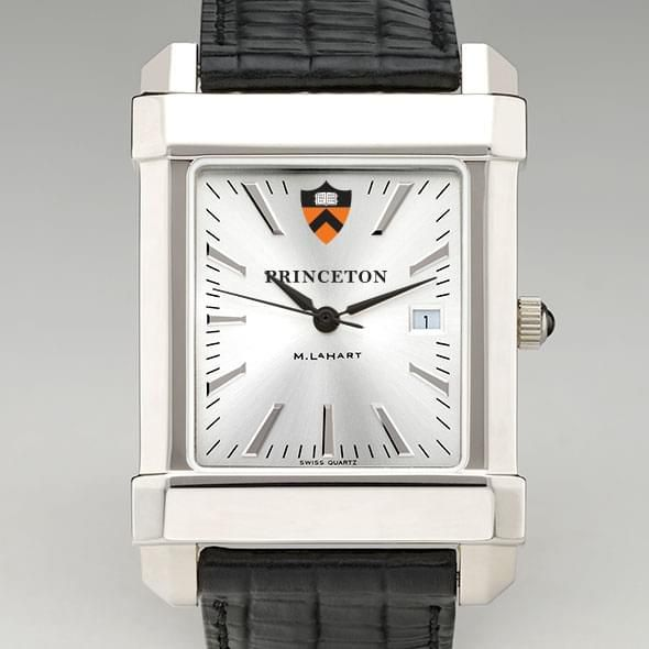 Princeton Men's Collegiate Watch with Leather Strap