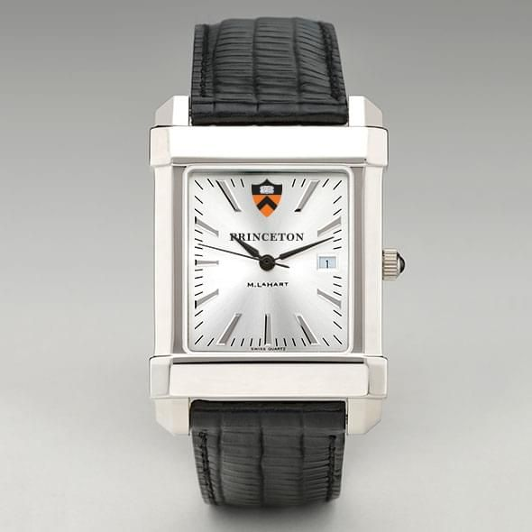 Princeton Men's Collegiate Watch with Leather Strap - Image 2