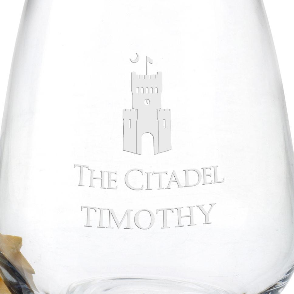 Citadel Stemless Wine Glasses - Set of 2 - Image 3
