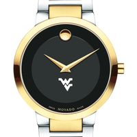 West Virginia University Men's Movado Two-Tone Modern Classic Museum with Bracelet