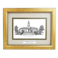 Framed Pen and Ink Johns Hopkins University Print