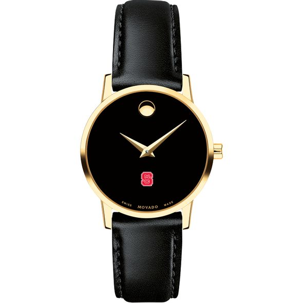 North Carolina State Women's Movado Gold Museum Classic Leather - Image 2