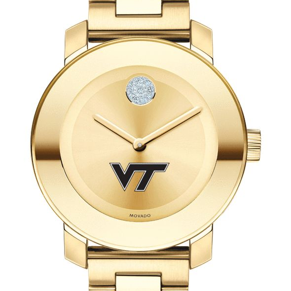 Virginia Tech Women's Movado Gold Bold
