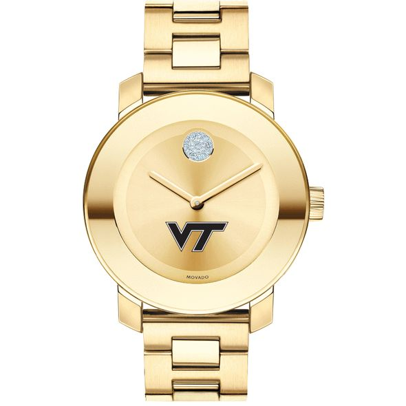 Virginia Tech Women's Movado Gold Bold - Image 2