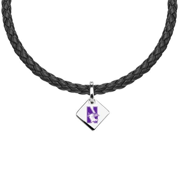 Northwestern Leather Necklace with Sterling Silver Tag