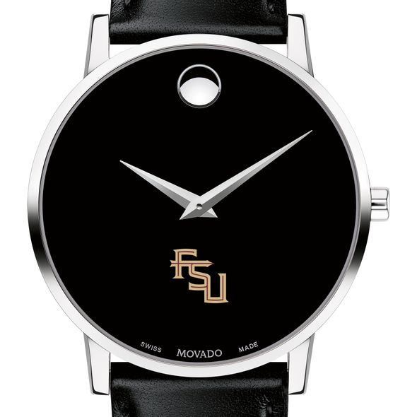 Florida State University Men's Movado Museum with Leather Strap - Image 1