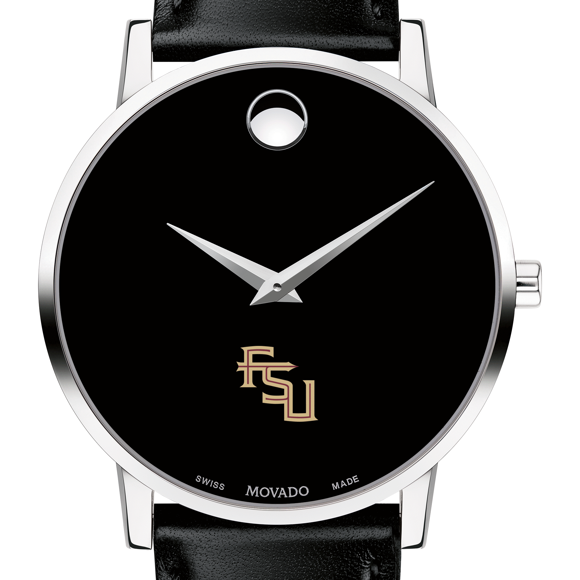Florida State Men's Movado Museum with Leather Strap