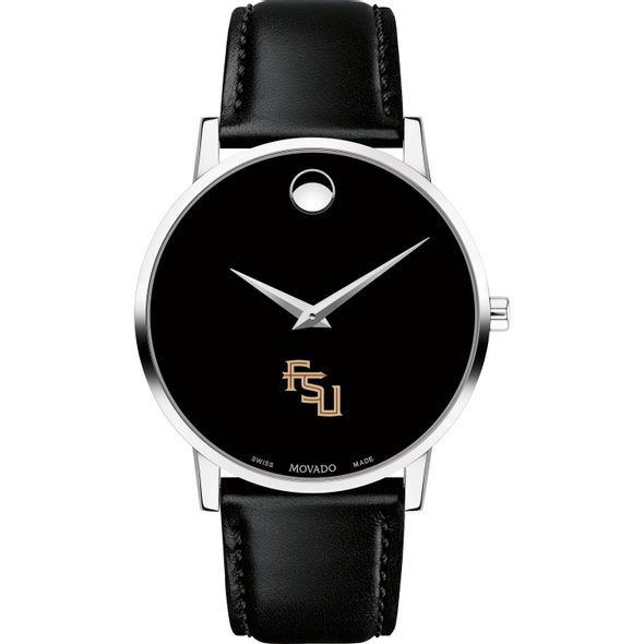 Florida State University Men's Movado Museum with Leather Strap - Image 2