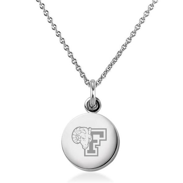 Fordham Necklace with Charm in Sterling Silver