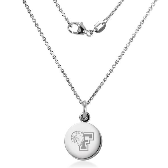Fordham Necklace with Charm in Sterling Silver - Image 2