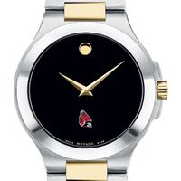 Ball State Men's Movado Collection Two-Tone Watch with Black Dial