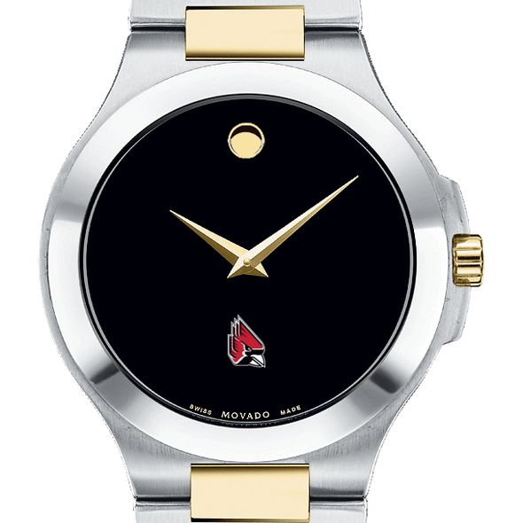 Ball State Men's Movado Collection Two-Tone Watch with Black Dial - Image 1