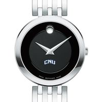 Christopher Newport University Women's Movado Esparanza Stainless Steel Museum with Bracelet