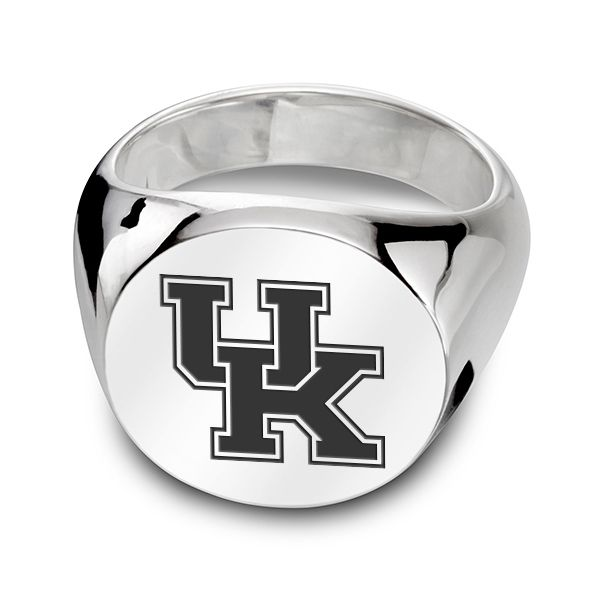 University of Kentucky Sterling Silver Round Signet Ring