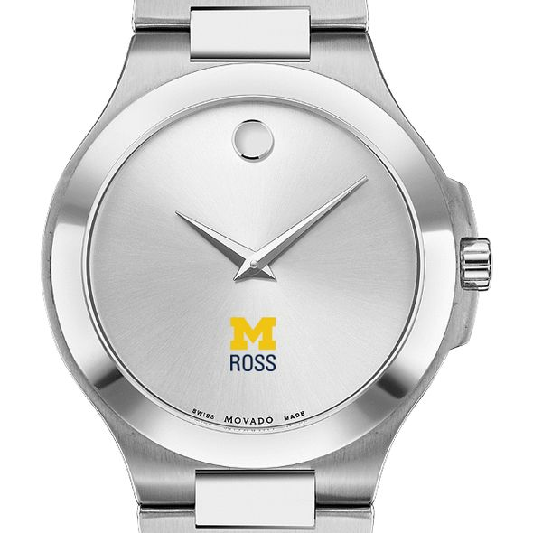 Michigan Ross Men's Movado Collection Stainless Steel Watch with Silver Dial - Image 1