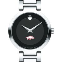 University of Arkansas Women's Movado Museum with Steel Bracelet