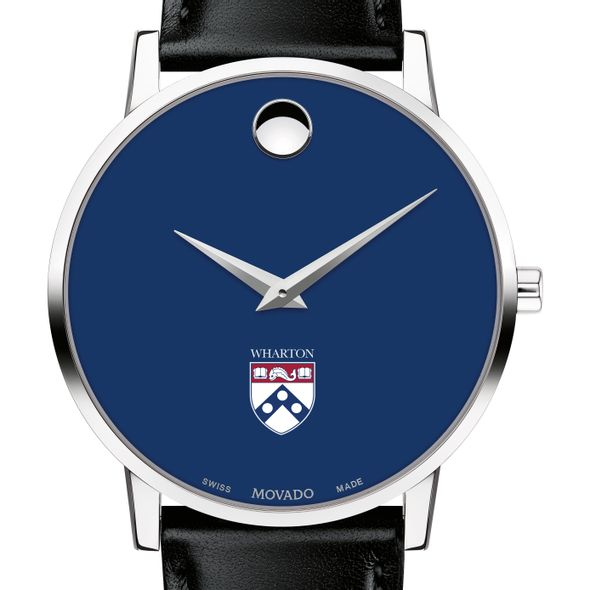 Wharton Men's Movado Museum with Blue Dial & Leather Strap