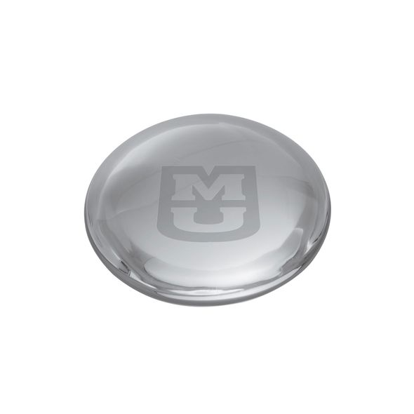 University of Missouri Glass Dome Paperweight by Simon Pearce